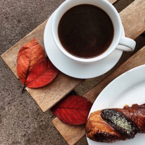 Autumn coffee and pastry